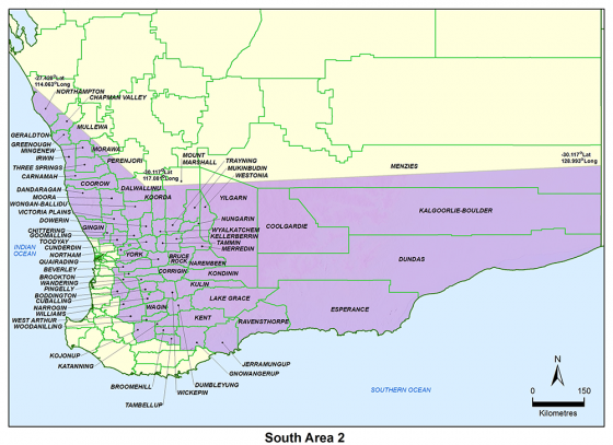 South Area 2 map
