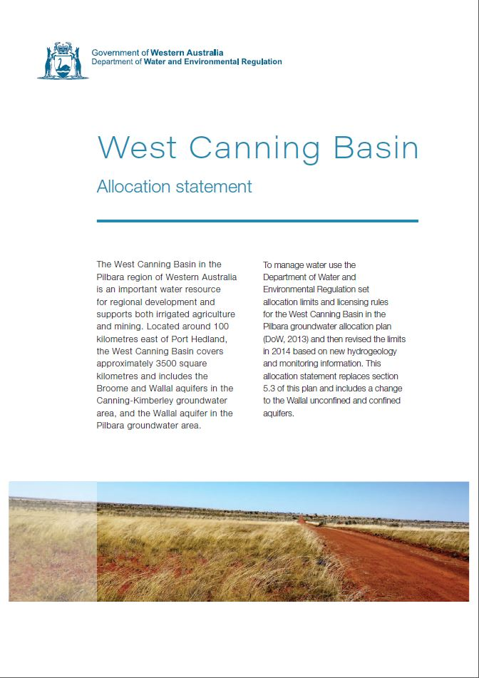 West Canning Basin allocation statement
