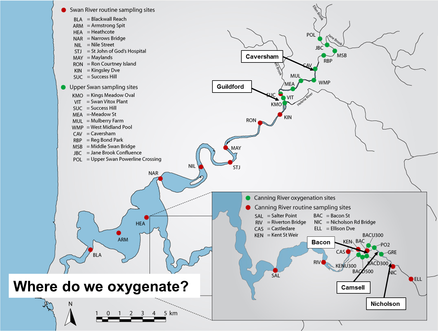 Map of oxygenation plant locations