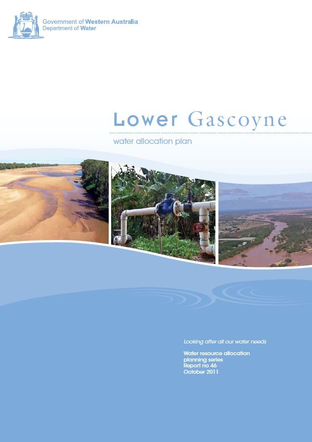 Lower Gascoyne plan cover